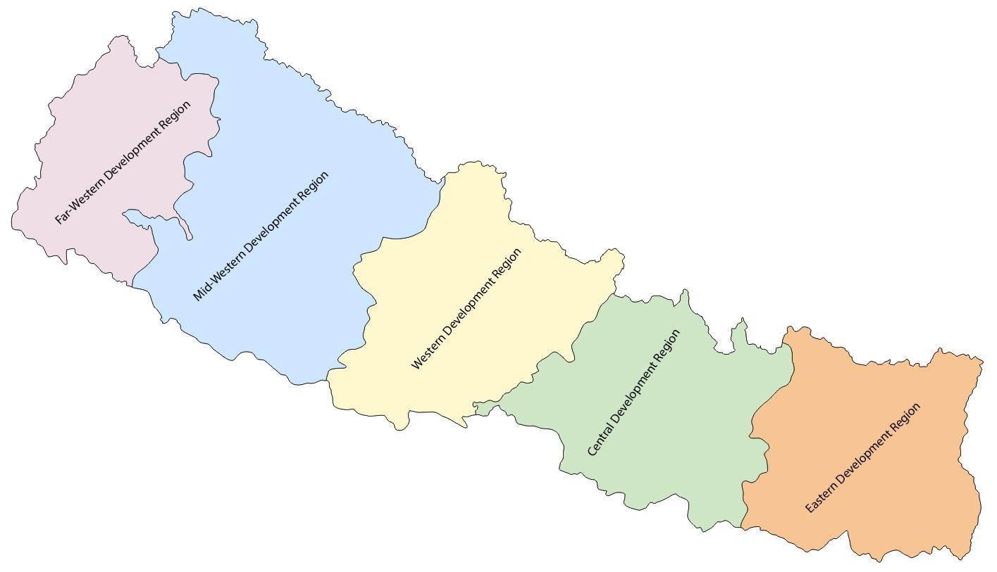 Map Of Asia With 5 Regions.Map Of Nepal With 5 Development Regions Map Of Nepal With Five