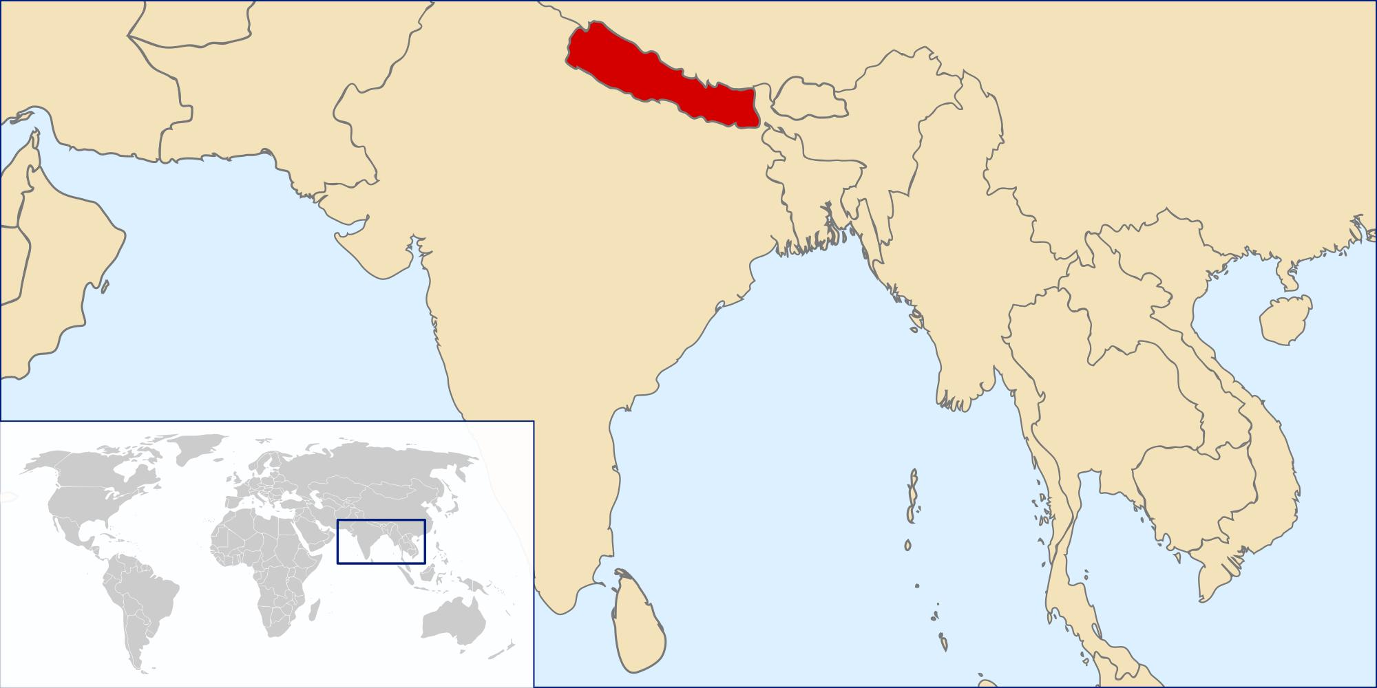 Nepal location on world map - Map of nepal location on world ...