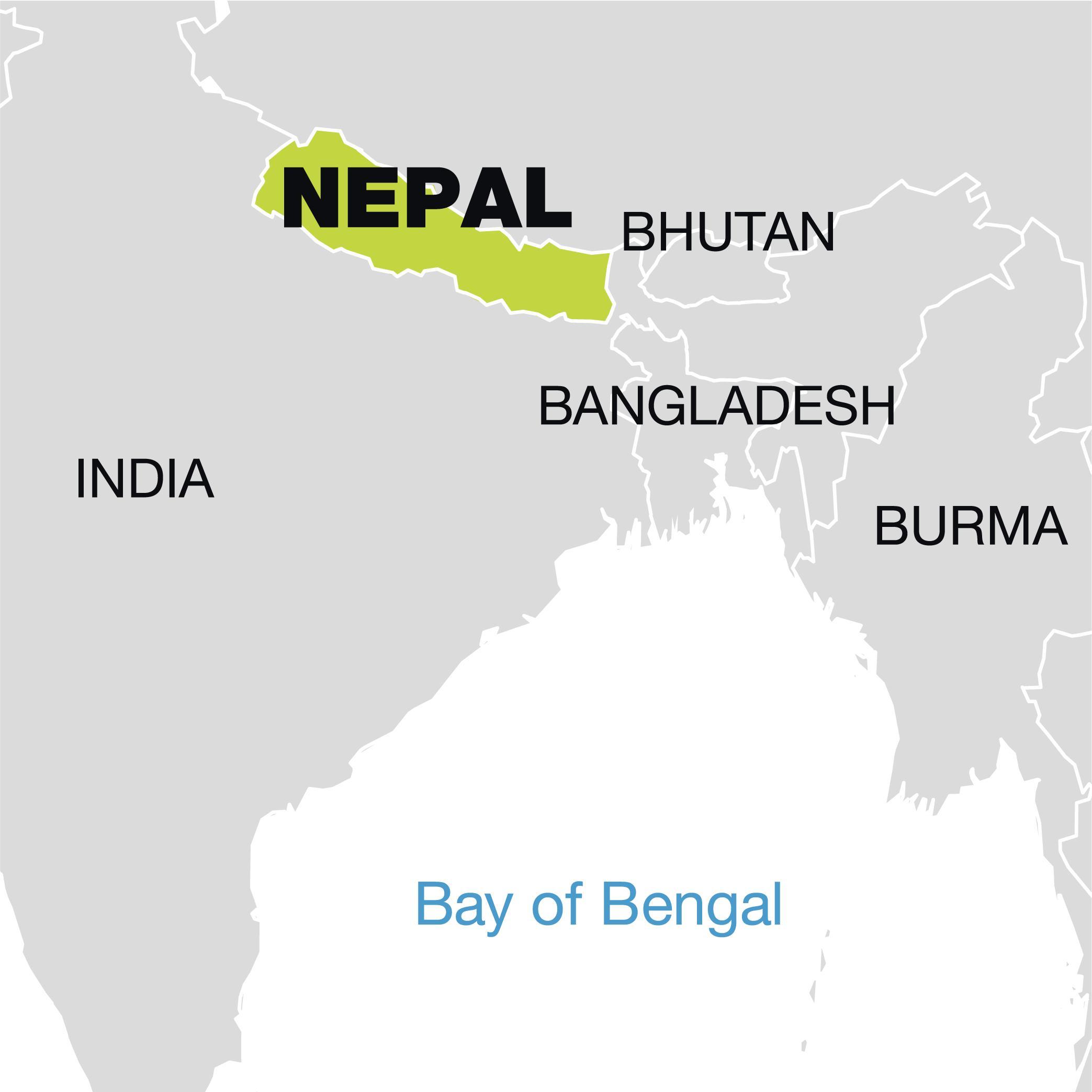 Nepal world map world map showing nepal southern asia asia world map showing nepal gumiabroncs Image collections