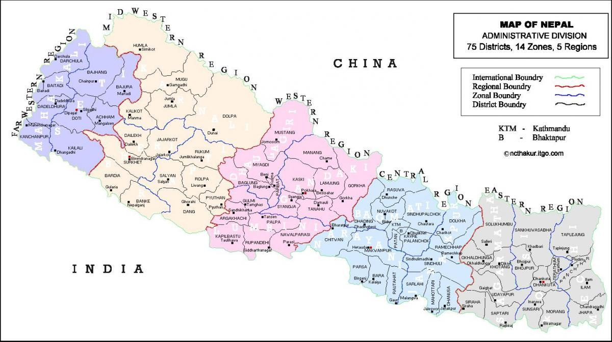 nepal all district map