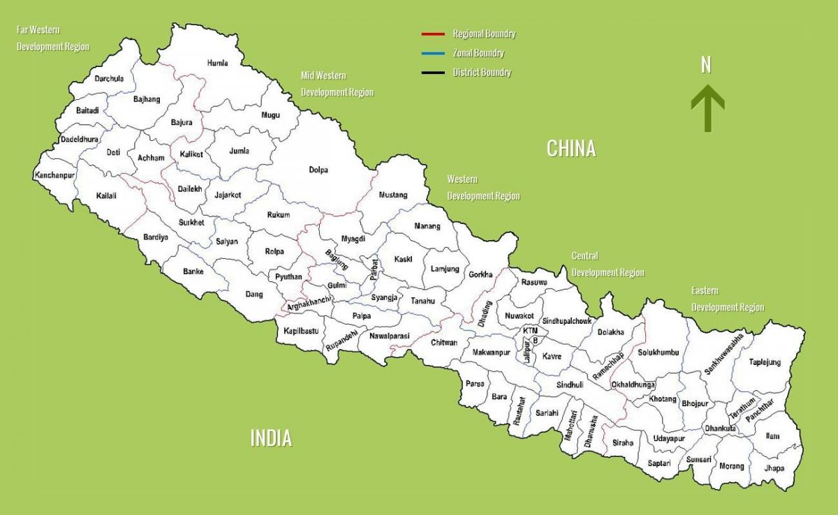 a map of nepal