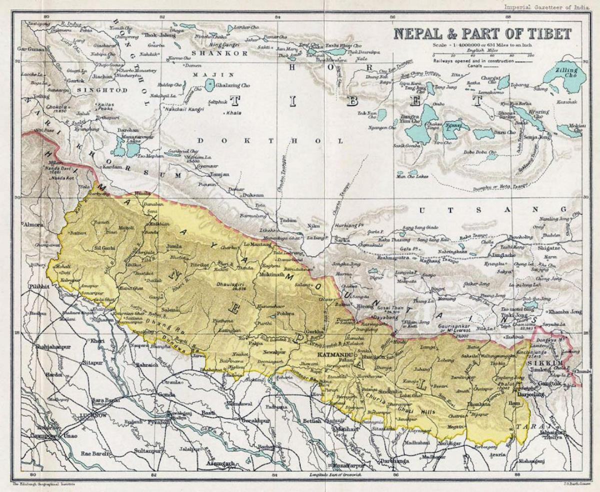 nepal map old
