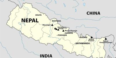 India nepal border map