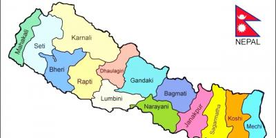 Show the map of nepal