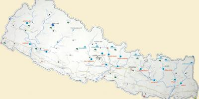 Map of nepal showing rivers