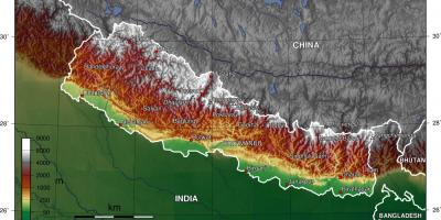 Map of satellite nepal